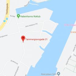 Byggefirma Køge, Sjælland, kort af enghave brygge ØF i København
