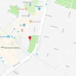 Byggefirma Køge, Sjælland, kort af rolighedsvej 1 i Ballerup