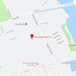 Byggefirma Køge, Sjælland, kort af vabs strandhaverne i København